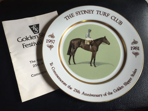 3. Plate 1981 Golden Slipper 25th Anniversary
