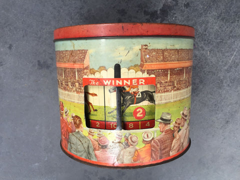 The Winner Biscuit Tin
