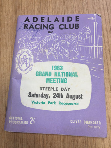 1963 Adelaide Grand National Meeting Gatum Gatum