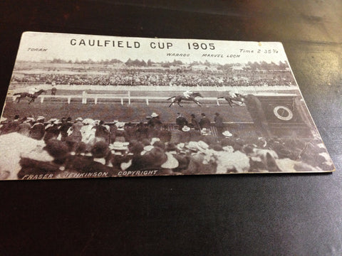 4. Postcard - 1905 Caulfield Cup finish