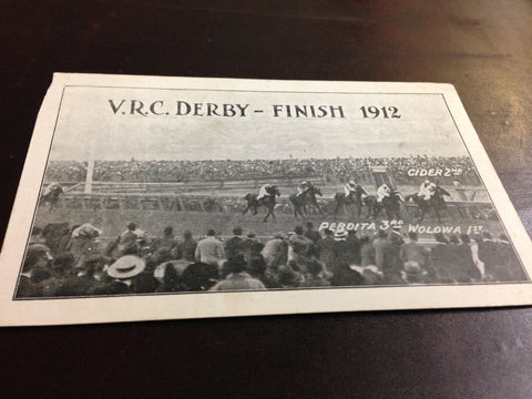 4. Postcard - 1912 VRC Derby finish
