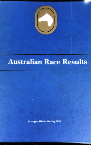 Australian Race Results Vol 18