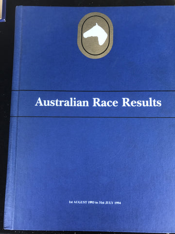 Australian Race Results Vol 17
