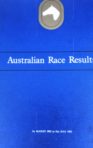 Australian Race Results Vol 16