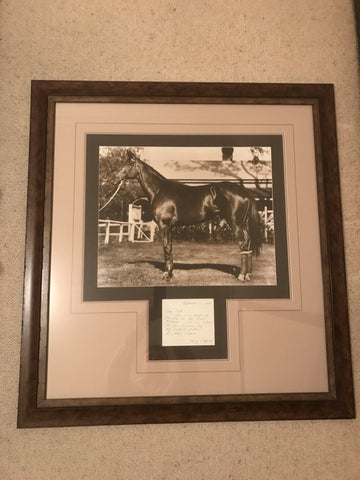 Phar Lap photo with Telford letter
