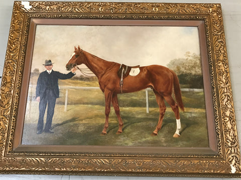 1. Painting - Mountain King 3rd 1907 Melbourne Cup
