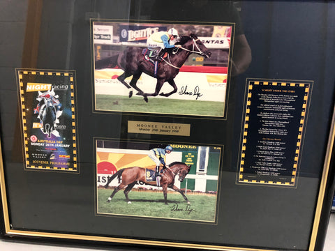 3. - Framed Night Racing Opening at Moonee Valley signed Shane Dye