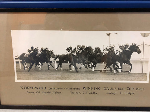 Framed shot of Northwind winning the 1936 Caulfield Cup