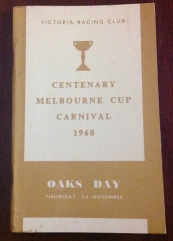 1960 Centenary Melbourne Cup Carnival.