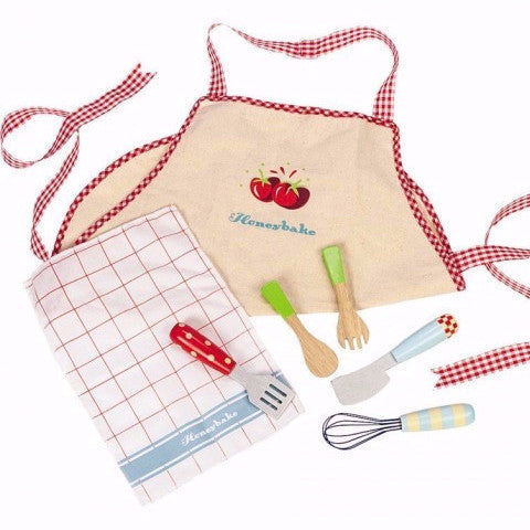 LE TOY VAN 'Honeybake' 7pce Apron and Utensil Set