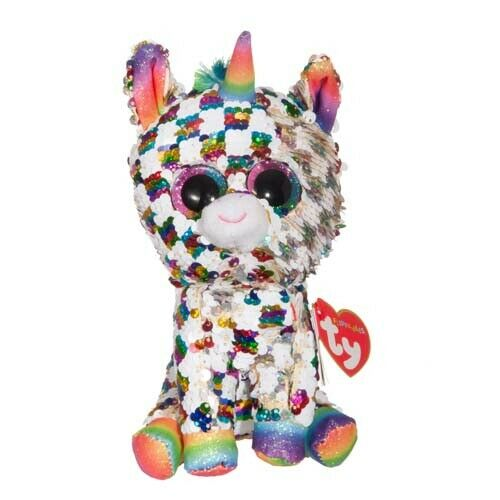"TY Beanie Boos Reg Sequin Flippables 'COSMO"" The Unicorn"