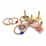 Wooden Ring Toss Quoits Indoor/Outdoor Game