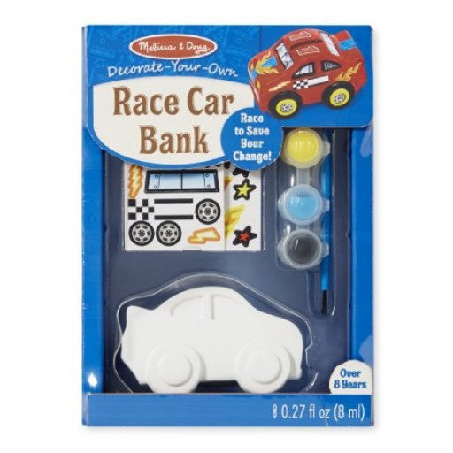 MELISSA AND DOUG Craft Decorate Your Own 'Race Car Bank' Money Box