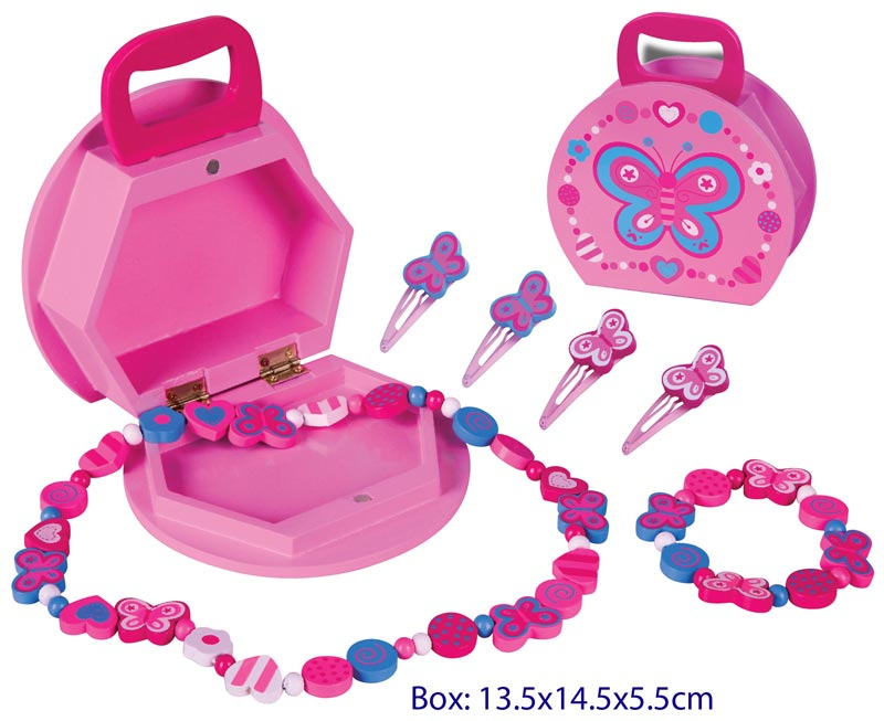 "FUN FACTORY - Wooden Jewellery Box ""Butterfly Jewellery Set"