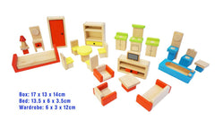 FUN FACTORY - Doll House Furniture 26 pcs