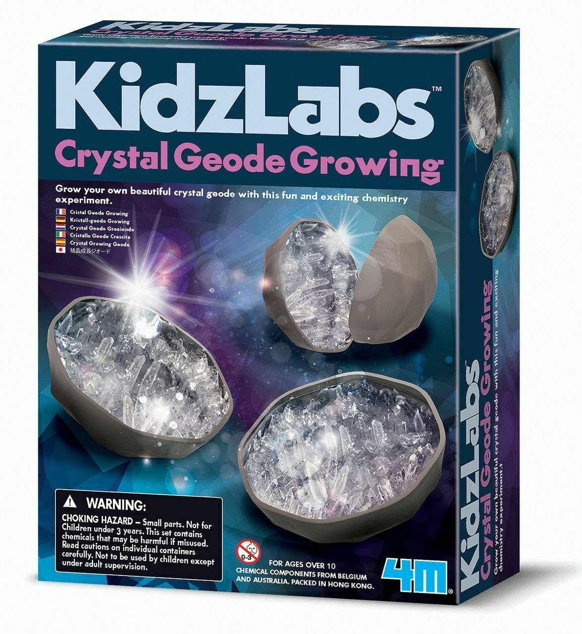 4M Kidzlabs Grow Your Own Crystal Geodes