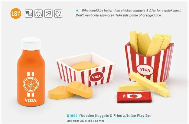 VIGA - Nuggets & Fries w/ Juice Set