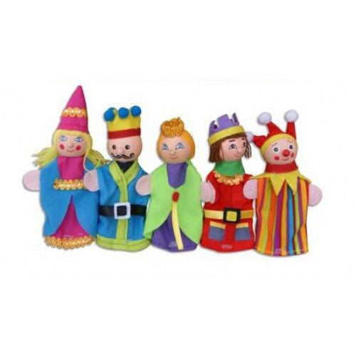 FUN FACTORY - Wooden 'Princess and the Pea' Finger Puppets with 3 Bedtime Stories