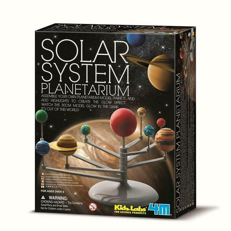 4M Kidz Lab Assemble and Paint Solar System Planetarium Desk Top Model