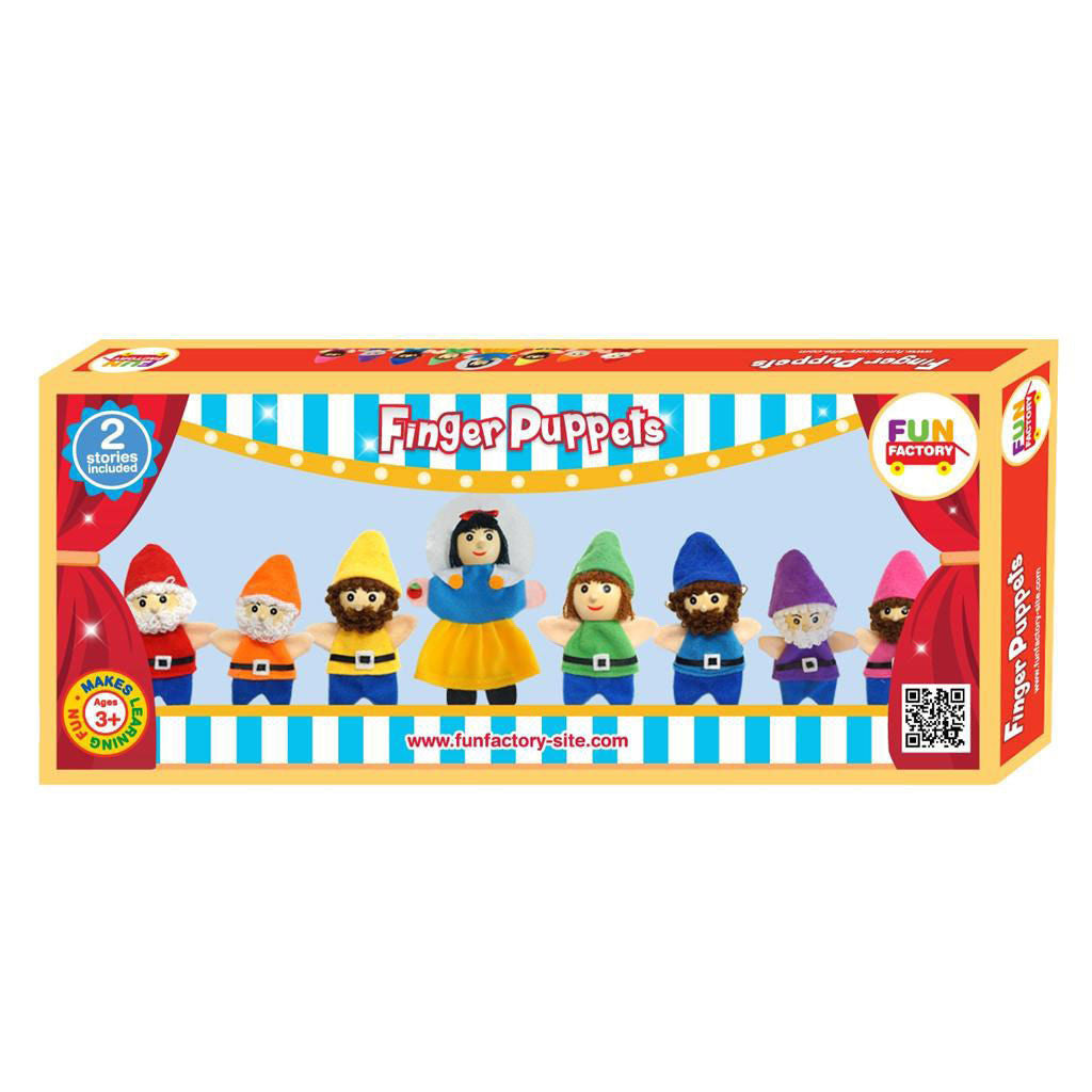 Wooden 'Snow White and the Seven Dwarfs' Finger Puppet Set