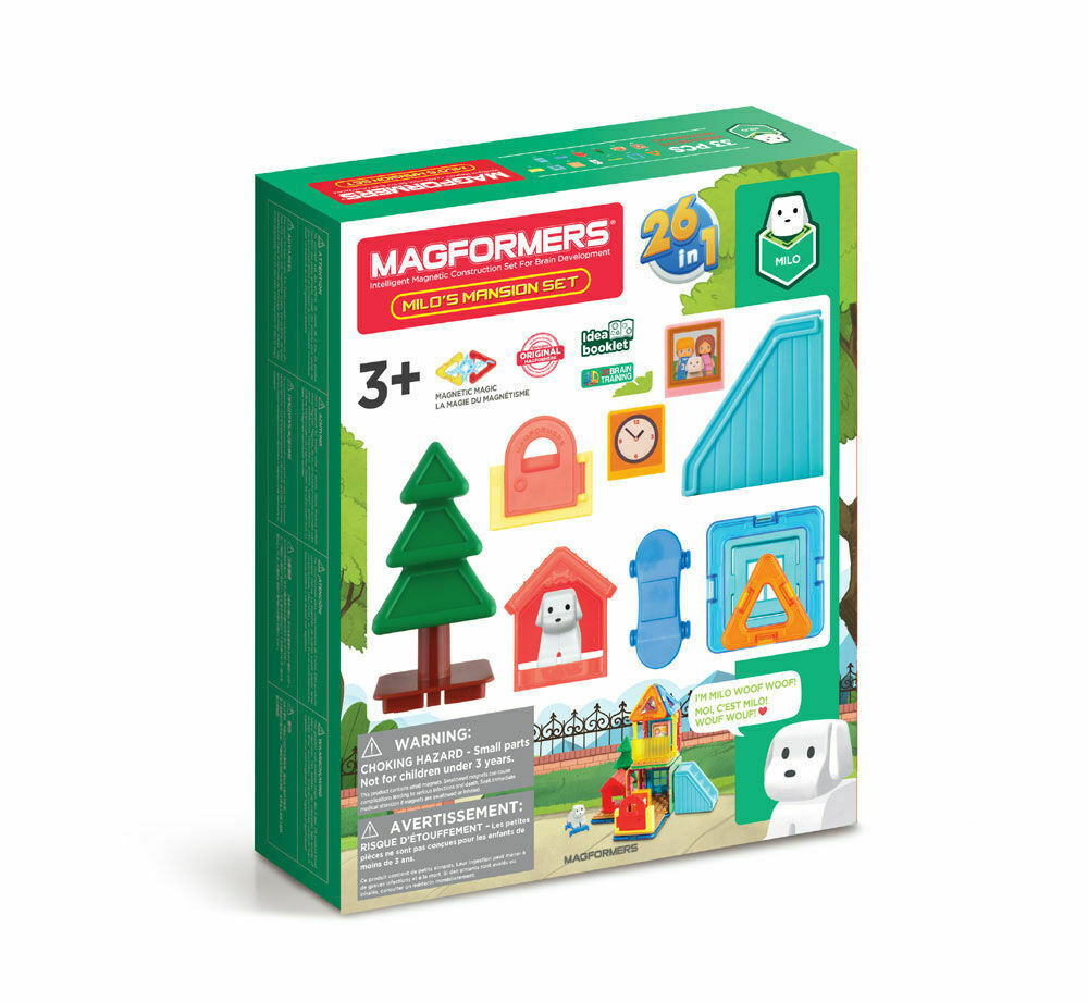 MAGFORMERS - 26in1 MILO'S MANSION SET