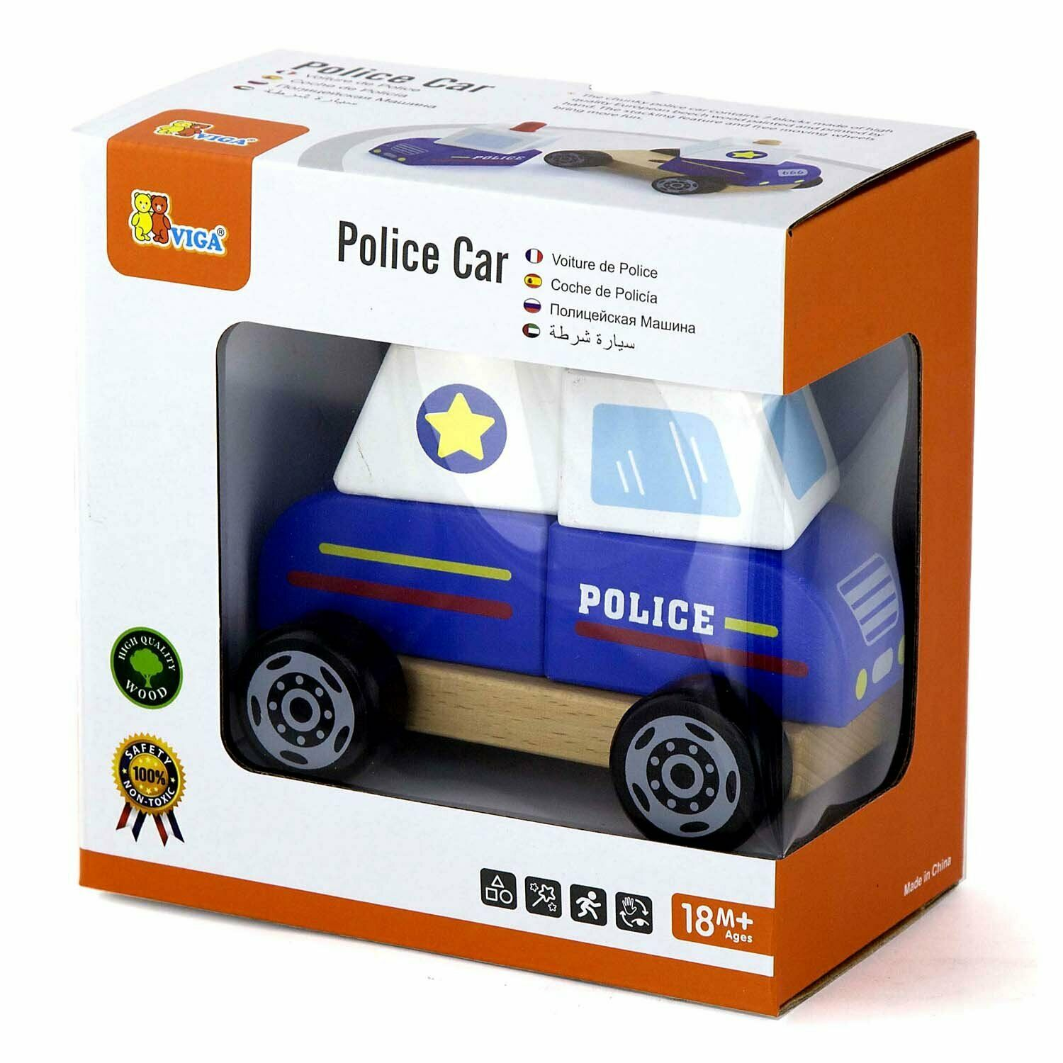 Wooden Stacking Car - POLICE CAR by VIGA Toys