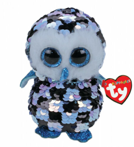 TY Flippables Beanie Boos MEDIUM Size 'TOPPER' The Owl