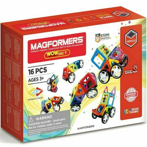 MAGFORMERS - 16pce WOW Set with Wheels