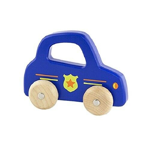 Wooden Boxed Toy Push-a-long 'Handy Vehicles' Police Car by VIGA Toys