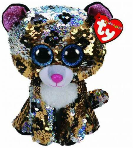 TY Flippables Beanie Boos MEDIUM Size 'STIRLING' The Leopard