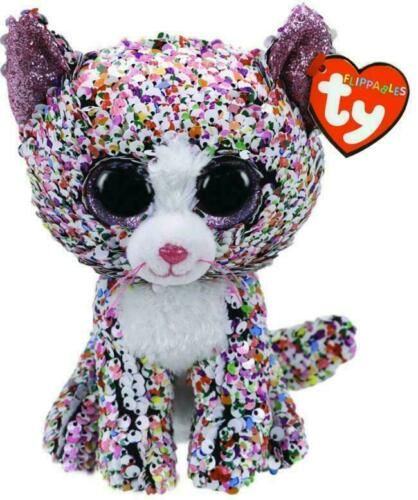 TY Flippables Beanie Boos MEDIUM Size 'CONFETTI' The Cat