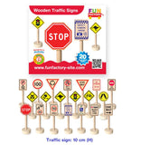 Wooden Educational Toy Set of 20 Australian 10cm Traffic Signs