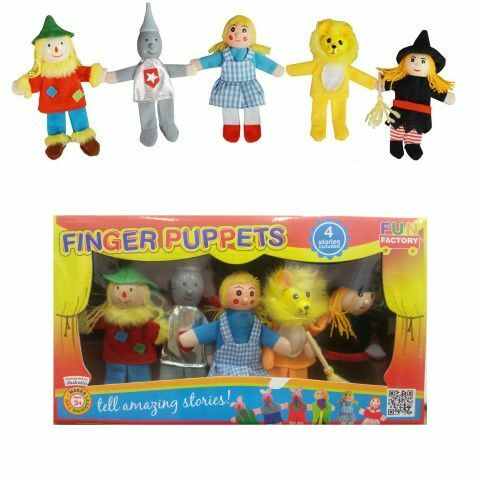 FUN FACTORY - Wooden 'Wizard of Oz' Finger Puppet Set