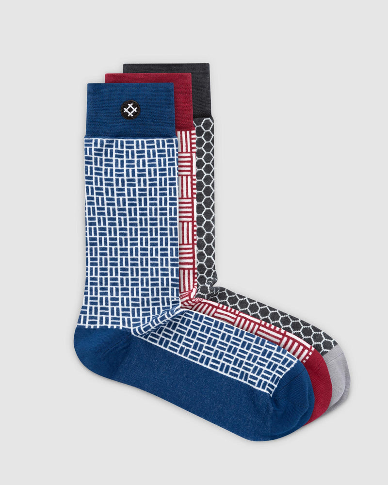 Network 3 Pack Crew Socks