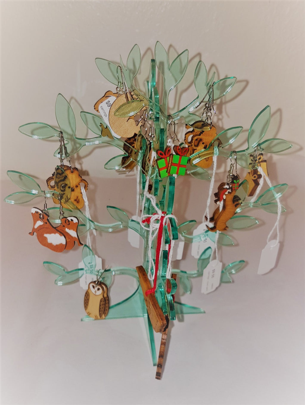 earring tree - aqua