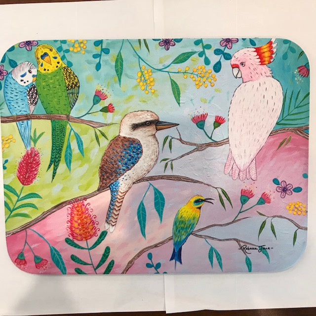Place Mat - Colourful Birds of Australia Series - Kookaburra