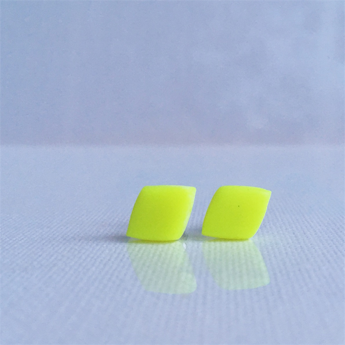 Basics - Diamond Studs - Fluro Yellow