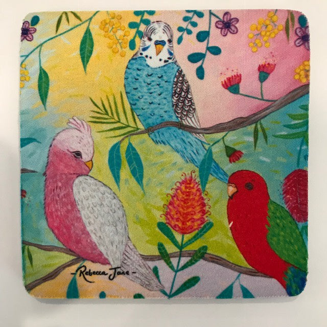 Coasters - Colourful Birds of Australia Series - Pink Galah