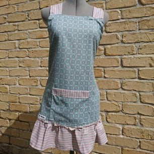 Pinafore Apron - Blue Cotton Candy