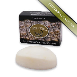 Bluegum Eucalyptus Australian Crocodile Oil Soap (Oval shape) 50g