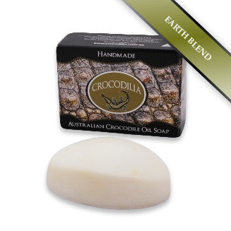 Earth Blend Australian Crocodile Oil Soap (Oval shape) 100g