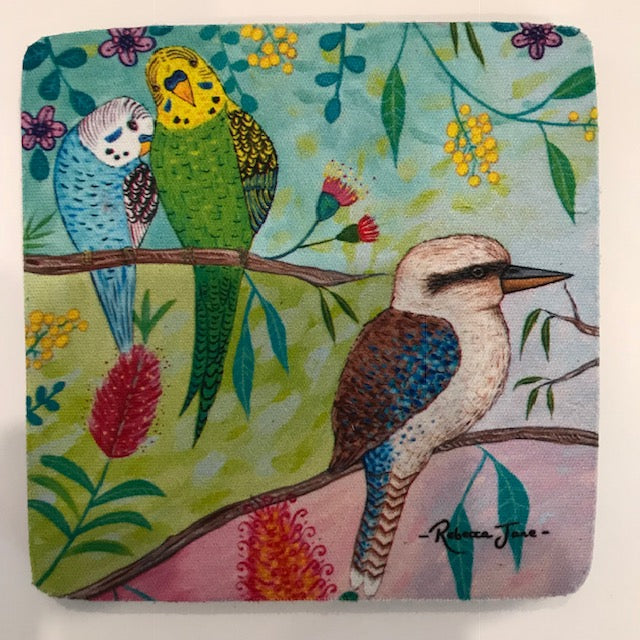 Coasters - Colourful Birds of Australia Series - Kookaburra