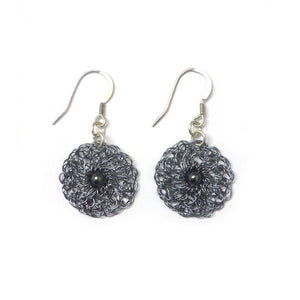 Round earrings - Grey / Hematite