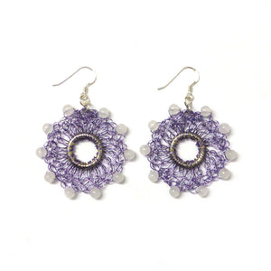 Hoop earrings - Lilac