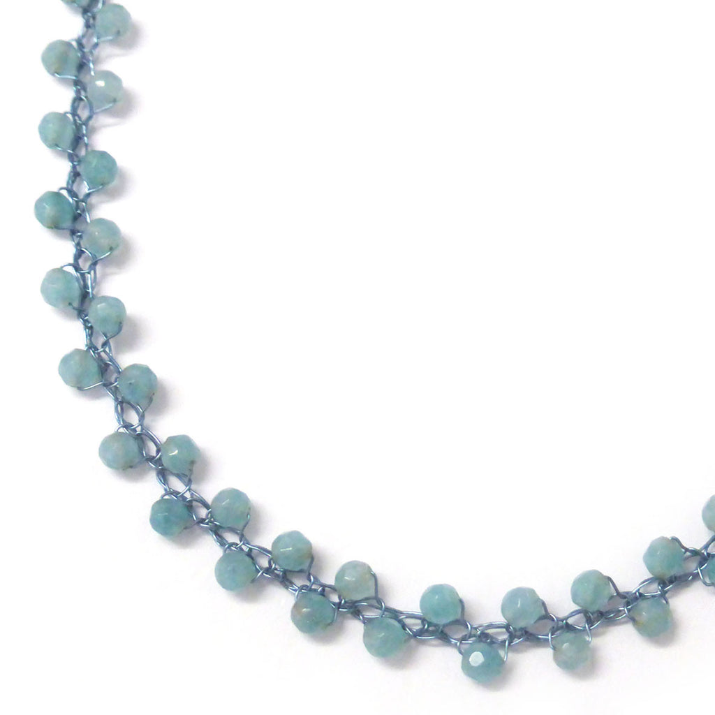 Necklace - Faceted Blue Quartz