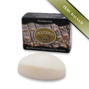 Peru Balsam (cinnamon like) Australian Crocodile Oil Soap (Oval shape) 50g