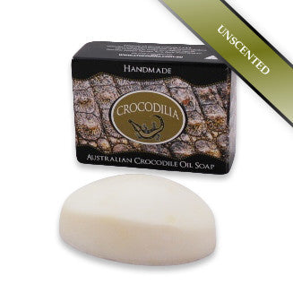 Unscented Australian Crocodile Oil Soap (Oval shape) 100g
