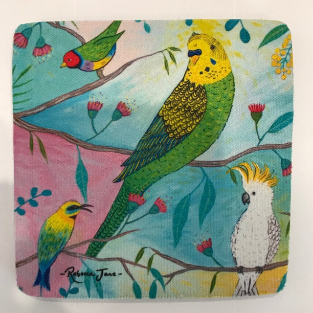 Coasters - Colourful Birds of Australia Series - Budgerigar