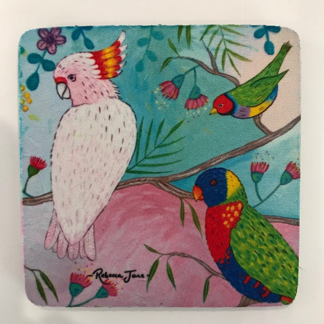 Coasters - Colourful Birds of Australia Series - Major Mitchell