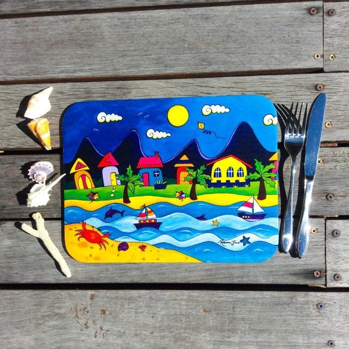 Place Mat - Beach Town with Kite